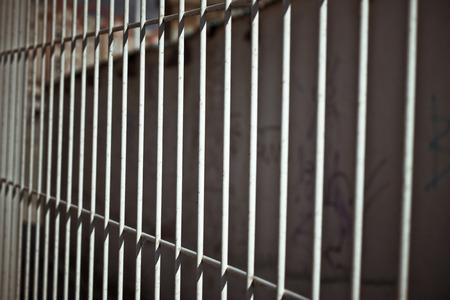 rejas de hierro: Foto abstracta de Hierro bares cerca.