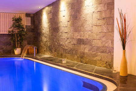 pool water: Interior of wellness and spa swimming pool.