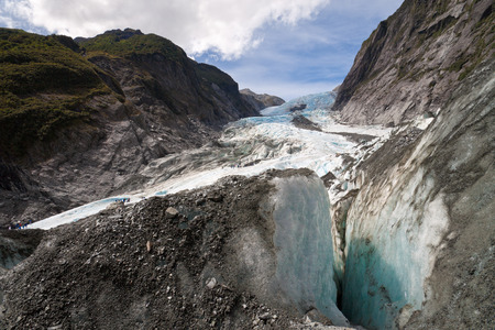 west coast: Scenic landscape at Franz Josef Glacier. Southern Alps, West Coast, South Island, New Zealand. Stock Photo