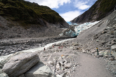 josef: Scenic landscape at Franz Josef Glacier. Southern Alps, West Coast, South Island, New Zealand. Stock Photo