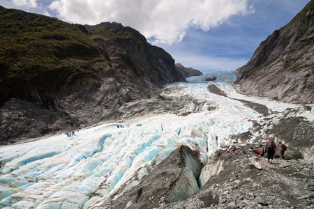 Scenic landscape at Franz Josef Glacier. Southern Alps, West Coast, South Island, New Zealand. Stok Fotoğraf