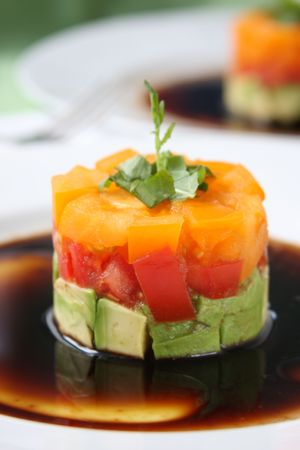 Tomato and Avocado Appetizer