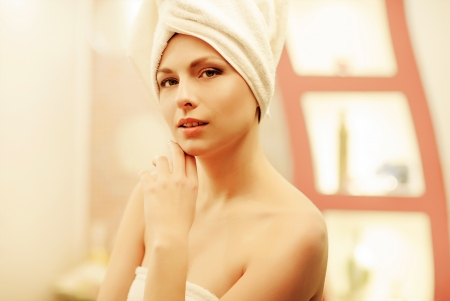 beautiful girl on spa procedures Stock Photo - 17749182