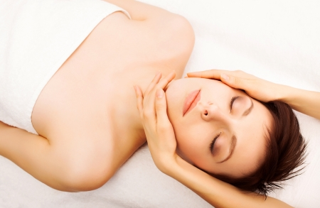 Young beautiful lady getting spa treatment Stock Photo - 17749866