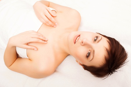 Young beautiful lady getting spa treatment Stock Photo - 17749865