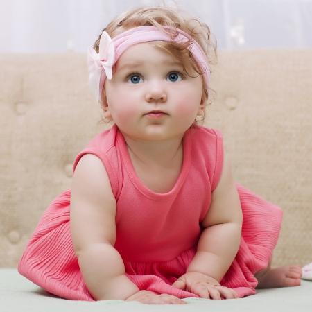 Beautiful smiling cute baby