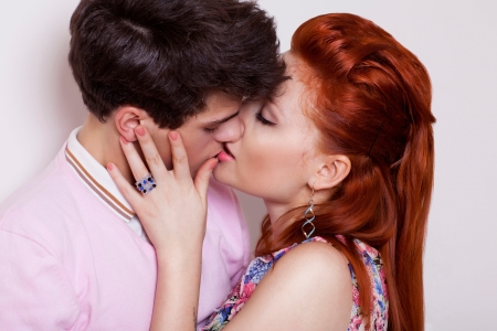 passion portrait of couple in love photo