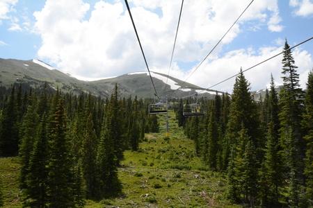 ski lift ride through valley
