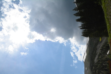 Split Mountain sky