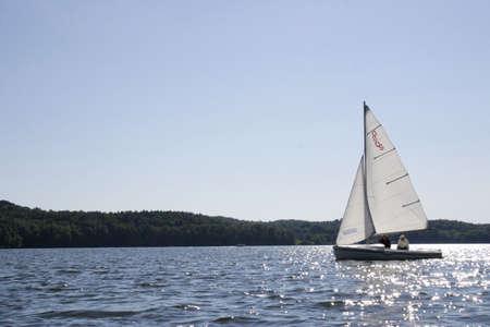 sailing on beautiful lake