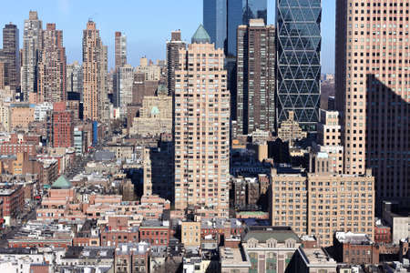 A view North from the 40th floor of an apartment building in midtown Manhattan in landscape. Stock Photo - 12047456