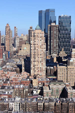 A view North from the 40th floor of an apartment building in midtown Manhattan in portrait. Stock Photo - 12047455