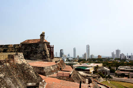 The view from the old Spanish for of Castillo de San Felipe de Barajas towards parts of modern Cartagena, Colombia, a city it has protected for centuries