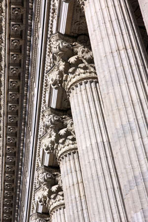 Detail of columns as classical greco-roman architecture elements. Stock Photo