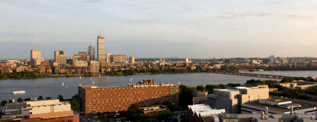 Cambridge, MA, and Boston, MA, facing one another across the river Charles near MITKendall. photo