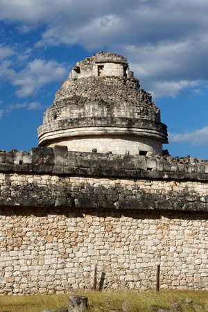 Tower of the  El Caracol  Mayan observatory at Chichen Itza, Yucatan, Mexico  photo