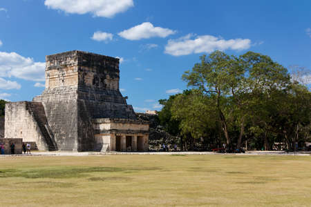 Ruins forming part of the Juego de Pelota  ball game  sports field among the Mayan ruins of Chichen Itza, Yucatan, Mexico Stock Photo - 14399274