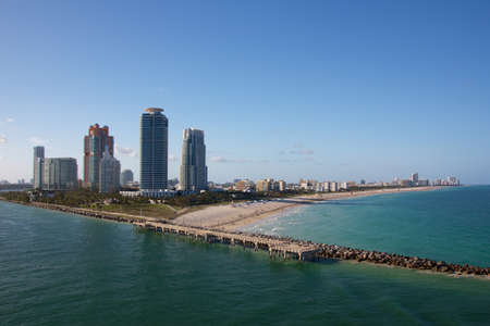 South Beach, FL, USA, where the famous Ocean Drive leads past Miami