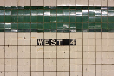Sign on the tiled wall in Manhattan photo