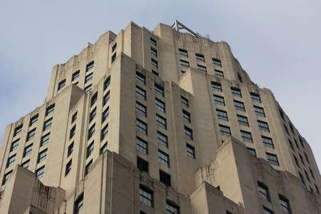 Historic Skyscraper in Midtown Manhattan, New York, NY, USA, rising like a rock formation Stock Photo - 17138745