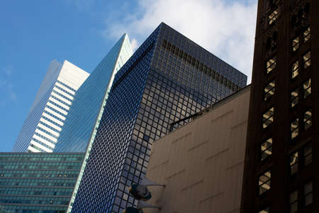 Office buildings of vastly different styles in Midtown Manhattan, New York, NY, USA Stock Photo - 17138744