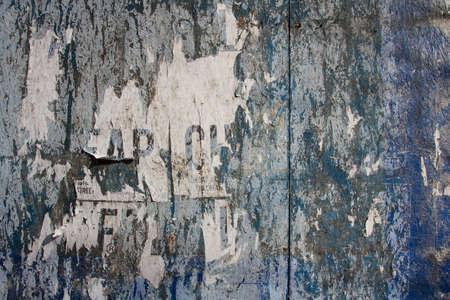 lower east side: Grungy paneles de madera en el Lower East Side de Manhattan, Nueva York, NY, EE.UU..