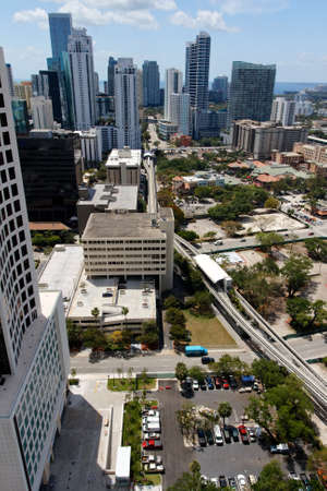 Aerial view of the Brickell area of Miami, FL, USA. photo