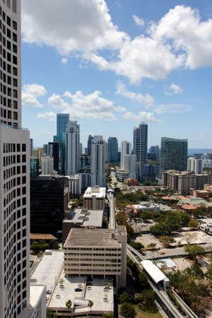 View among the towers of Brickell, Miami, FL, USA. photo
