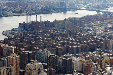 boroughs: A view of Stuytown from the Empire State Building in New York, NY.