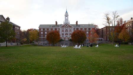harvard university: Radcliffe Quad undergrad housing at Harvard University campus in Cambridge, MA, USA on a beautiful fall day in November 2013