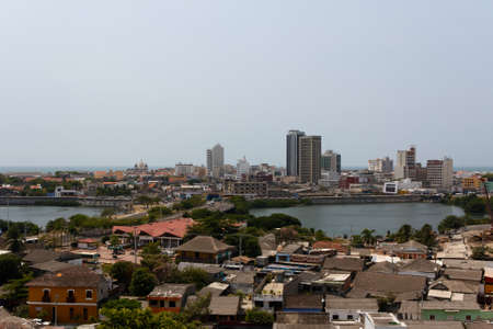 View over the Caribbean city of Cartagena de Indias, Colombia