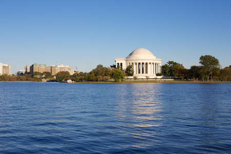 Thomas Jefferson Memorial seen across the Reservoir in Washington, DC, USA  photo