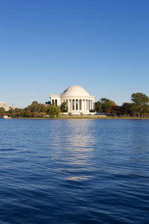 Thomas Jefferson Memorial seen from afar in Washington, DC, USA