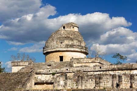 El Caracol  the snail  Mayan observatory ruin at Chichen Itza, Yucatan, Mexico  photo