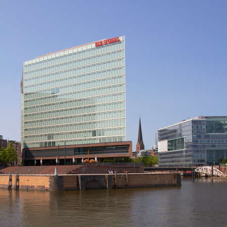 journalistic: HAMBURG, GERMANY - JULY 2013  Headquarters of the influential German magazine and publishing house Der Spiegel in Hamburg, Germany in July 2013