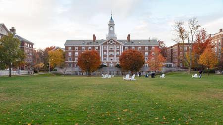 CAMBRIDGE, MA, USA - NOVEMBER 2, 2013  Radcliffe Quad undergrad housing at Harvard University in in Fall in Cambridge, MA, USA on November 2, 2013
