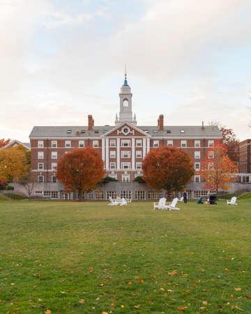 undergrad: CAMBRIDGE, MA, USA - NOVEMBER 2, 2013  Radcliffe Quad undergrad housing at Harvard University in in Fall in Cambridge, MA, USA on November 2, 2013  Editorial