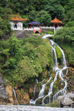shrine: Eternal Spring Shrine  Changchun Shrine , major landmark in Taroko National Park in Taiwan  Stock Photo