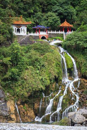 Eternal Spring Shrine  Changchun Shrine , major landmark in Taroko National Park in Taiwan  Stock Photo