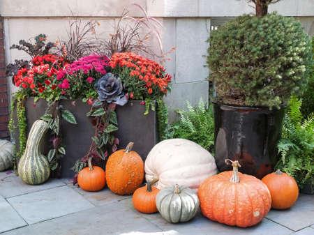 tasteful: Tasteful home decorations welcoming the fall season.