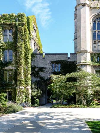 undergrad: CHICAGO, IL, USA - OCTOBER 8, 2014: Impressions the University of Chicago