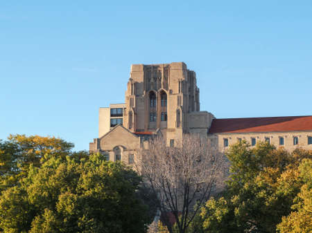 il: International House at the University of Chicago on a beautiful fall day in Chicago, IL, USA. Stock Photo