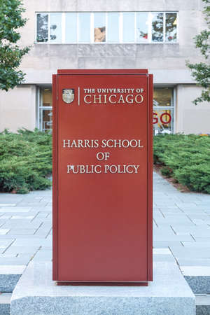 il: CHICAGO, IL, USA - OCTOBER 8, 2014: The University of Chicago Harris School of Public Policy in Chicago, IL, USA on October 8, 2014.