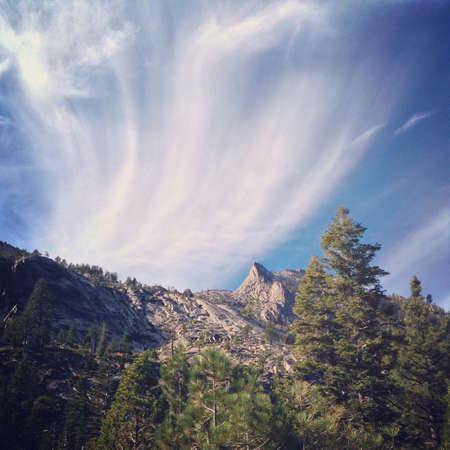 mountainscape: Mountainscape near Lake Tahoe, USA Stock Photo