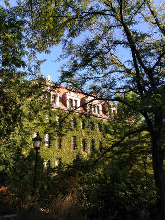 il: CHICAGO, IL, USA - SEPTEMBER 23, 2014: View of a garden on the campus of the University of Chicago in Chicago, IL, USA on September 23, 2014.