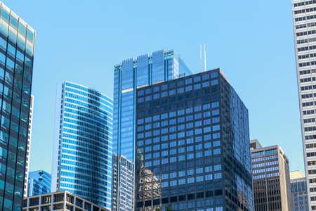 il: Skyscrapers dominating the cityscape in downtown Chicago, IL, USA.
