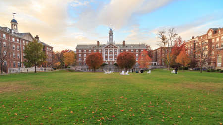 CAMBRIDGE, MA, USA - NOVEMBER 2, 2013: Radcliffe Quad undergrad housing at Harvard University in Fall in Cambridge, MA, USA on November 2, 2013. Editorial