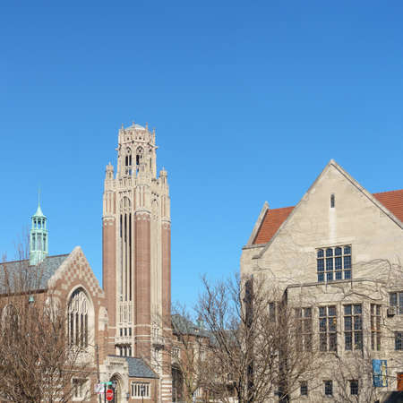 undergrad: University of Chicago Campus in the Hyde Park area of Chicago, IL, USA. Stock Photo