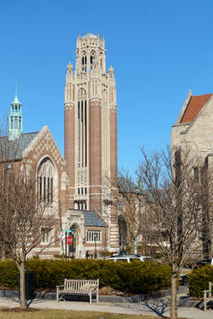 il: University of Chicago Campus in the Hyde Park area of Chicago, IL, USA. Stock Photo