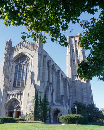 il: Rockefeller Chapel on the campus of the University of Chicago in the Hyde Park neighborhood of Chicago, IL, USA. Stock Photo